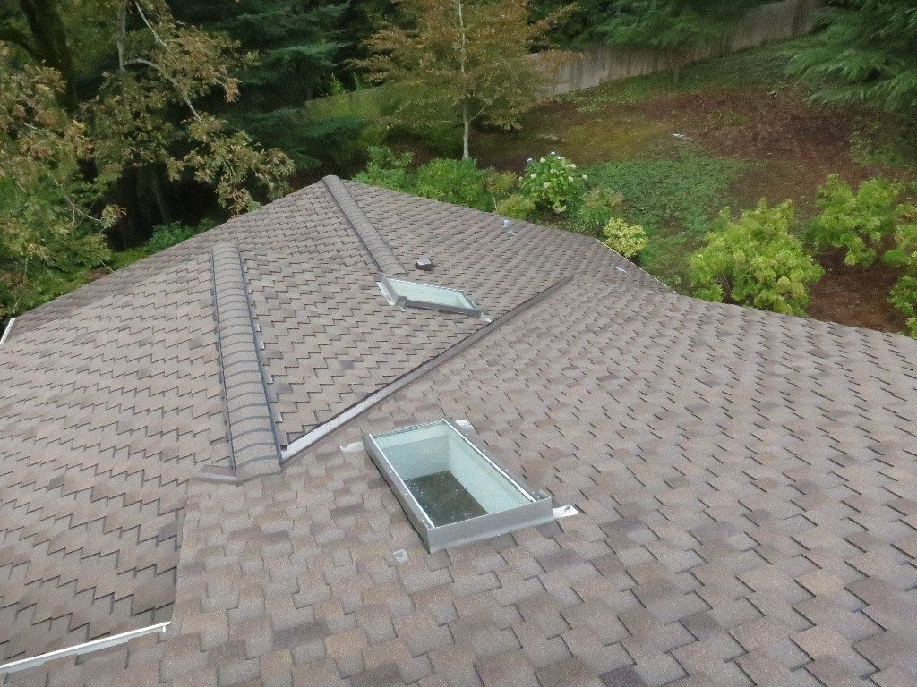 Asphalt shingle roof installed in Wells Maine
